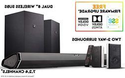 Nakamichi Shockwafe Elite 7.2Ch DTS:X 800W 45-Inch Sound Bar