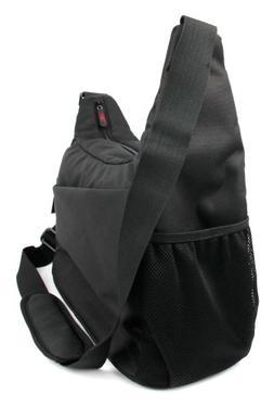 DURAGADGET Premium Quality Shoulder 'Sling' Bag in Black & O
