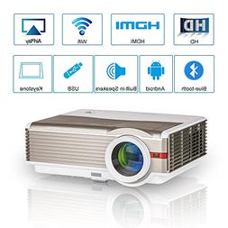 HD Bluetooth Projector with Built-in WiFi, 4200 Lumen Wirele