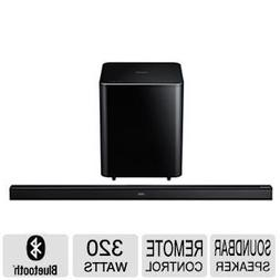 """Samsung 46"""" 2.1 Channel Sound Bar with Wireless Active Subwo"""
