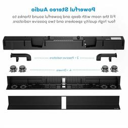 Soundbar, TaoTronics Sound Bar Wired and Wireless Bluetooth