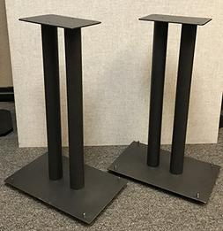 "Steel Fill-Able 24"" Speaker Stands for Medium to Large Books"