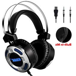 KUAK Stereo Gaming Headset with Mic for PC PS4 Xbox one Nint