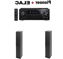 Pioneer Surround AV Receiver Black  + Pair of Elac F5.2 Floo