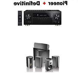 Pioneer Surround AV Receiver Black  + Definitive Technology