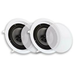 """Acoustic Audio CSic83 in Ceiling 8"""" Speaker Pair 3 Way Home"""