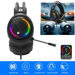 Surround RGB 7.1 Sound USB Wired Headset Over-Ear Gaming Hea