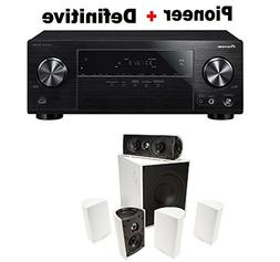Pioneer Surround Sound A/V Receiver - Black  + Definitive Te