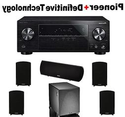 Pioneer Surround Sound A/V Receiver - Black  + 2 Pairs of De