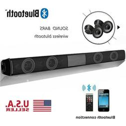 Surround Sound Bar 4 Speaker System Wireless BT Subwoofer TV