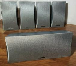 Onkyo Surround Sound Speakers SKF-340 Front R & L /Center/Su