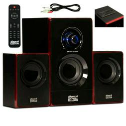Surround Sound System Computer Speakers PC Wireless TV Hom