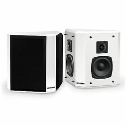 Fluance SXBP2WH Home Theater Bipolar Surround Sound Speakers