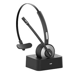 Trucker Bluetooth Headset,Willful Wireless Headset with Micr