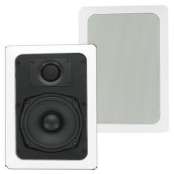 Theater Solutions TS50W In Wall Speakers Surround Sound Home