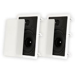 "Theater Solutions TS80W In Wall 8"" Speakers Home Theater Sur"