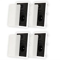 "Theater Solutions TS80W in Wall 8"" Speakers Surround Sound H"