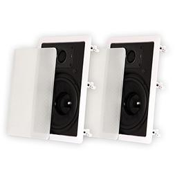 """Theater Solutions TSS8W In Wall 8"""" Speakers Surround Sound H"""