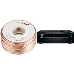 Onkyo TX-8020 Stereo Receiver and AmazonBasics 16-Gauge Spea