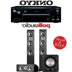Onkyo TX-NR676 7.2-Channel 4K Network A/V Receiver + Polk Au