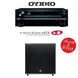 Onkyo TX-NR747 7.2-Channel Networking A/V Receiver + A Bosto
