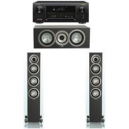 ELAC Uni-Fi Slim Black 3.0 System with 2 ELAC FS-U5 Floorsta
