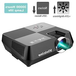 Upgraded VIVICINE V8P LCD Mini Movie Projector +25% Brightne