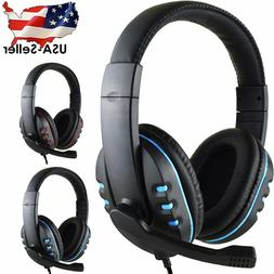 US Mic Stereo Surround Sound Gaming Headphones Headsets For