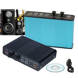 USB 6 Channel 5.1 External Optical Audio Surround Sound Card