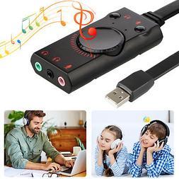 usb external surround sound card audio adapter