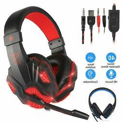 USB Gaming Headset Gamer Headphones Surround Sound Stereo Ea