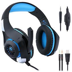 Sonlipo USB Surround Stereo Wired Gaming Headset Over Ear He