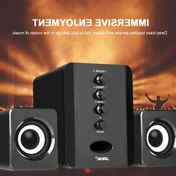 usb wired speakers computer bass stereo subwoofer