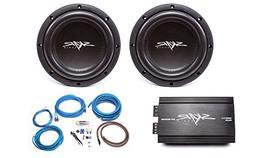 Skar Audio 2X VVX-8v3 D2 800 Watt Subwoofers with RP-800.1D