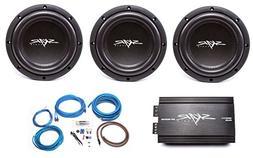 Skar Audio 3x VVX-8v3 D2 800 Watt Subwoofers with RP-800.1D