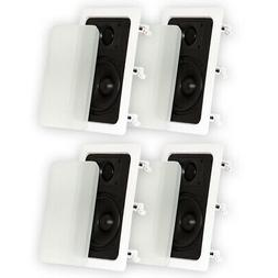 """Theater Solutions 2 Pair New 5.25"""" In Wall Surround Sound Ho"""