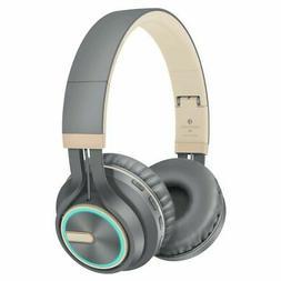 Wireless Bluetooth Headphone LED Foldable Headset Heavy Bass