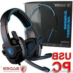 SADES WOLFGANG SA-901 7.1 Surround Sound Headset Noise Reduc