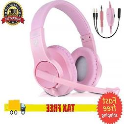 Girl PS4 Xbox ONE PC 3 5mm Gaming Headset Mic Microphone Hea
