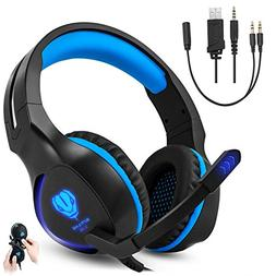 Gaming Headset for Xbox One PS4 PC, Gintenco Foldable Noise
