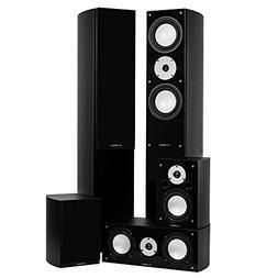 Fluance XLHTBBK High Performance 5 Speaker Surround Sound Ho