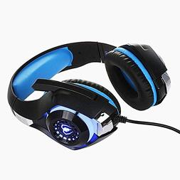 YIGEYI 3.5mm for PS4 Gaming Headset LED Flexible Wired Headp