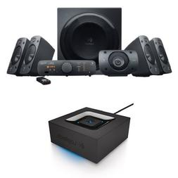 Logitech Z906 Surround Sound Speaker System Bundle with Blue